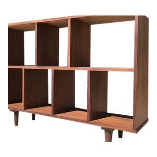 Mid Century Walnut Book Case/Vinyl Record Storage