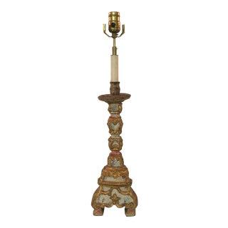 Italian Altar Stick Lamp - Antique