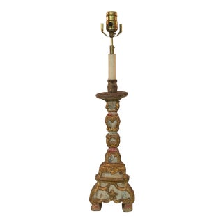 Italian Altar Stick Lamp - Antique