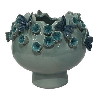 Kenneth Ludwig Small Flower & Butterfly Three Dimensional Vase