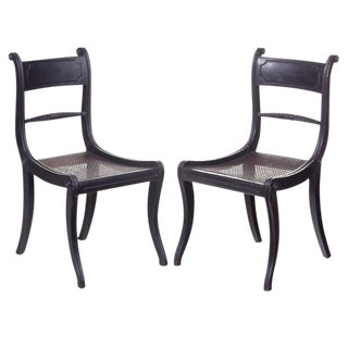 Ebonized Regency Chairs - A Pair