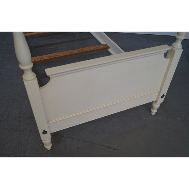 Ethan Allen Painted Twin Poster Beds - Pair - Image 7 of 10