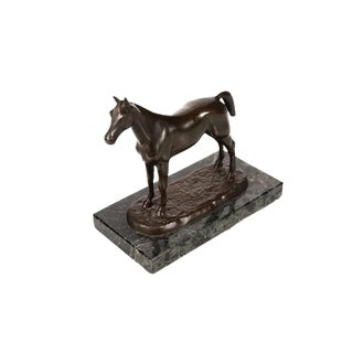 "Isidore Jules Bonheur ""Arabian Stallion"" 19th Century French Bronze Sculpture"