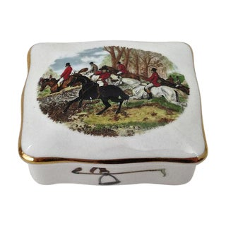 Hammersley Bone China Hunt Scene Box
