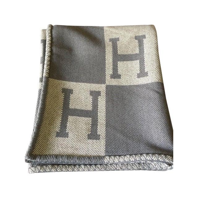 "Hermès Estate ""H"" Avalon Blanket Throw - Image 1 of 8"