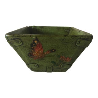 Antique Chinese Painted Rice Scoop or Box