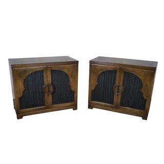 Widdicomb Mid-Century Walnut 2 Door Cabinets - A Pair