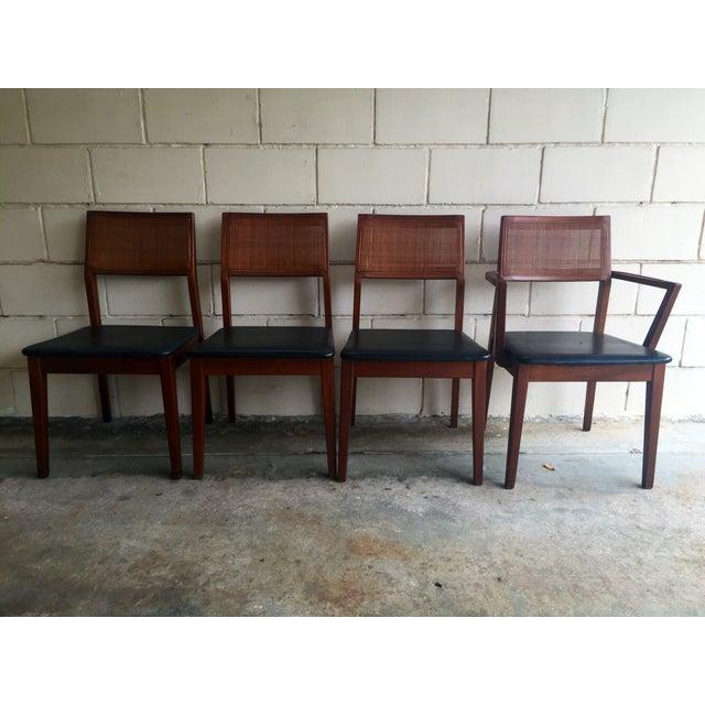 Mid-Century Walnut Dining Chairs - Set of 4 - Image 3 of 7