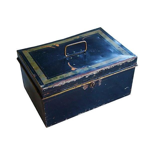 Antique Tin Document Box - Image 2 of 6