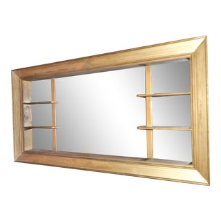 Mid-Century Modern Mirrored Shelves Shadow Box