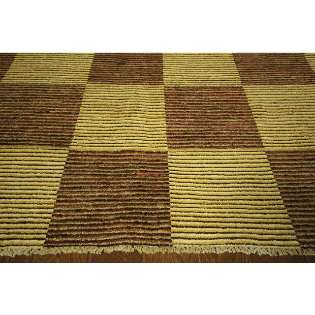 "Checkered Gabbeh Kashkuli Rug - 8'2"" x 10'6"" - Image 5 of 10"