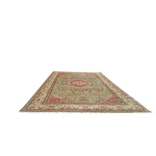 11′8″ × 19′9″ Vintage Persian Mahal Hand Made Knotted Rug - Size Cat. 12x18 13x20