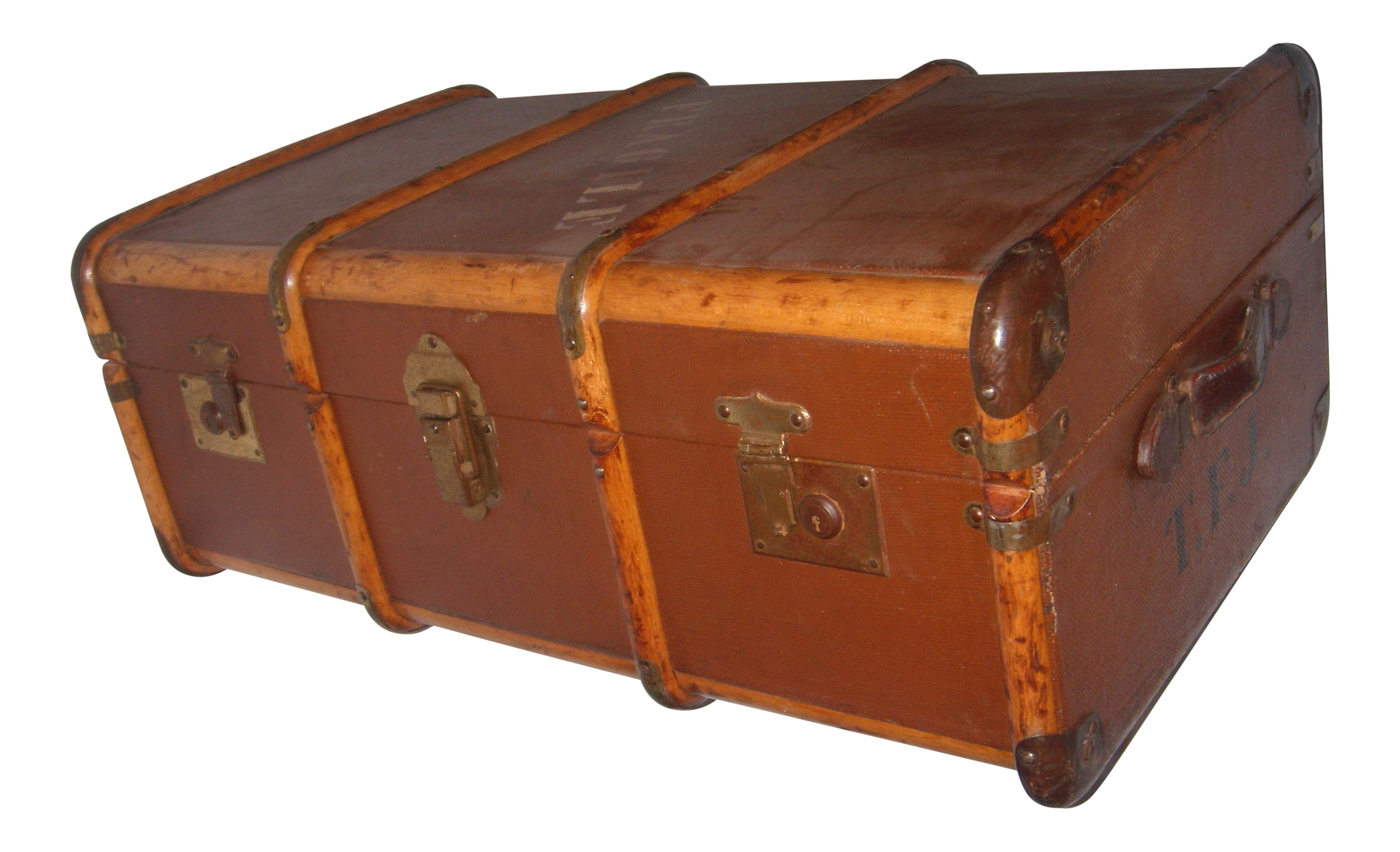 vintage canvas u0026 wood english trunk
