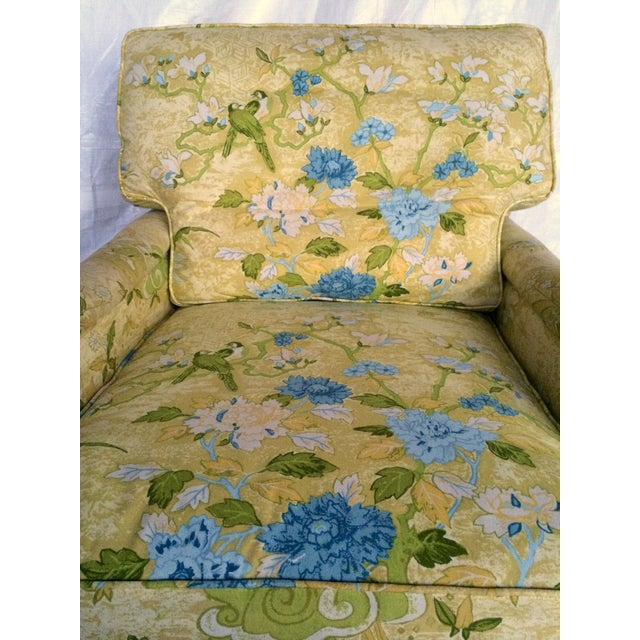Floral Print Club Chairs by Century - A Pair - Image 7 of 7