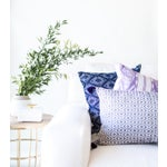 Image of Lilac & White Ikat Guatemalan Pillow