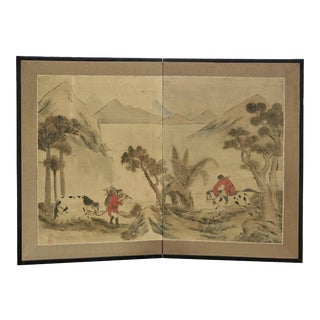 Antique Chinese Paper Screen