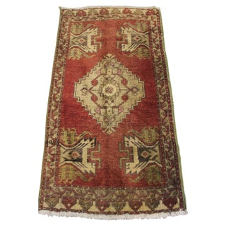 "Decorative Turkish Oushak Rug - 1'6"" X 3'1"""