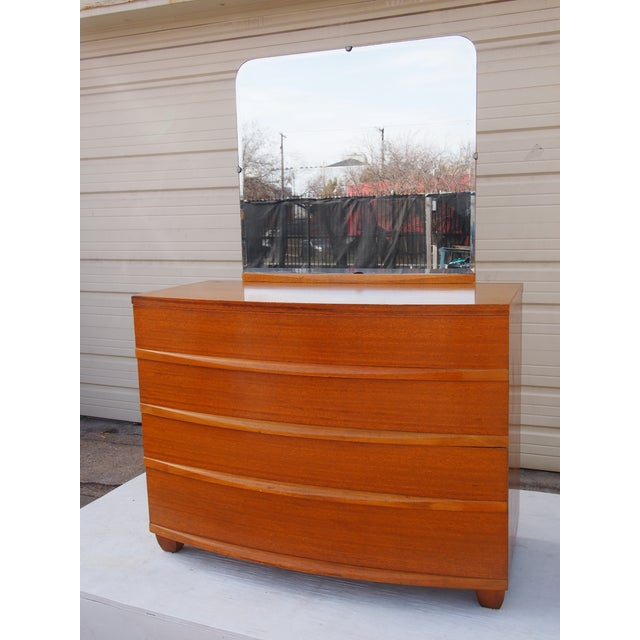Image of Randolph Mahogany Bedroom Dresser and Mirror