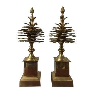 Brass Pine Cones - Pair
