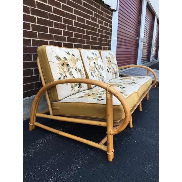 Image of Vintage Ficks Reed Co. Vintage Rattan Sofa