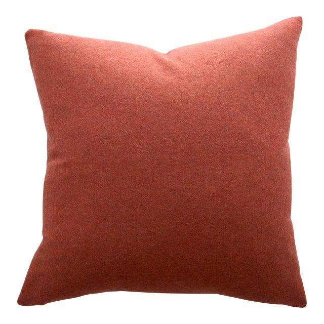 Italian Orange Sustainable Wool Pillow - Image 1 of 6