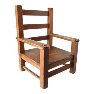 Children's Handmade Oak Chair,