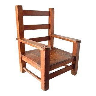 Children's Handmade Oak Chair,