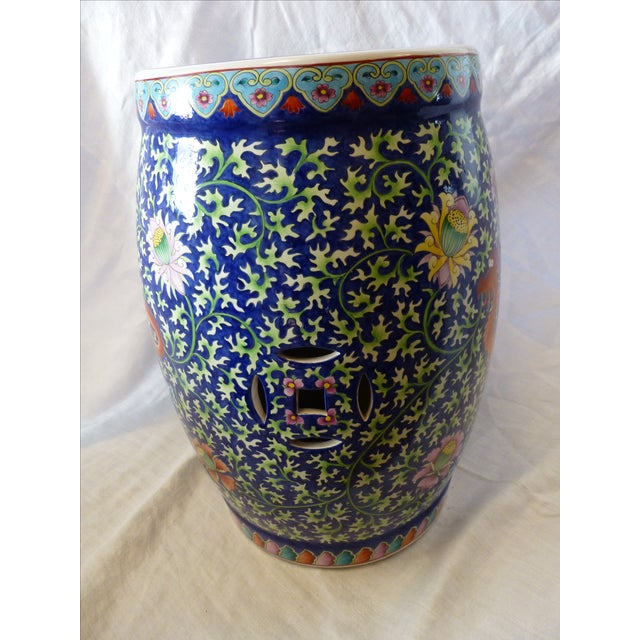 Chinoiserie Garden Stool With Dragon Motif - Image 3 of 8