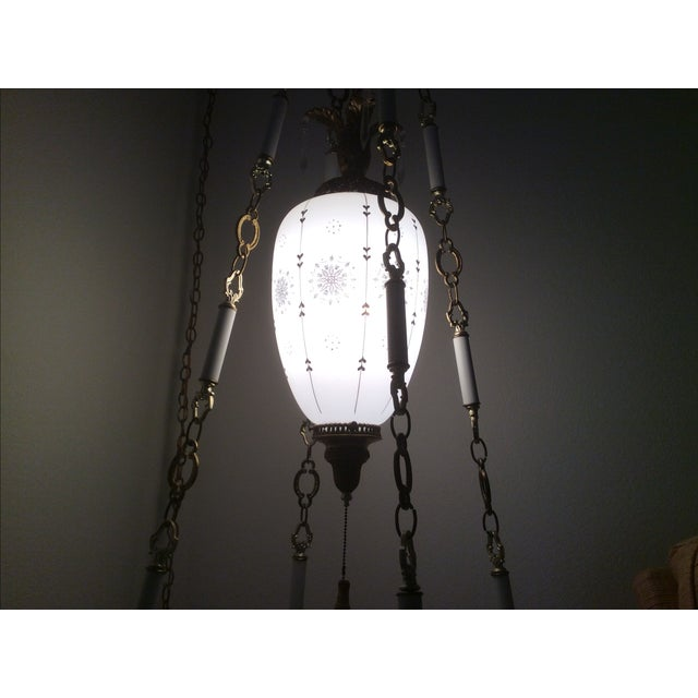 Image of Italian Marble Pendant Swag Lamp & Table Top