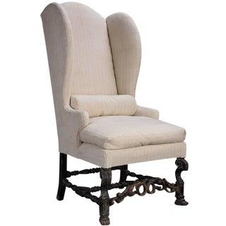 Tall Wingback Chair, circa 1880