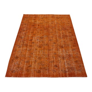 Vintage Overdyed Turkish Rug - 5′9″ × 9′