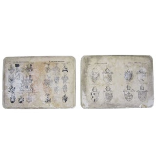 Printed Crests Stone Blocks - Set of two