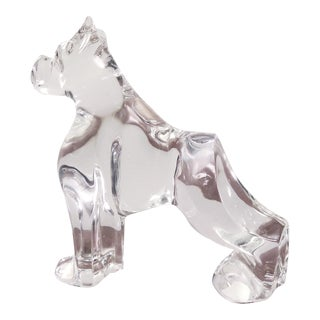 Baccarat Crystal Boxer Dog Figurine