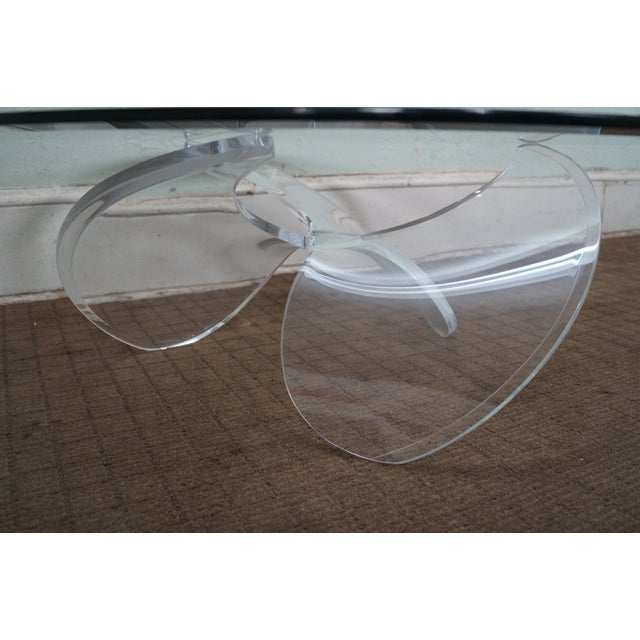 Knut Hesterberg Glass Top Lucite Base Coffee Table - Image 6 of 10