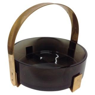 Max Ingrand Fontana Arte Glass & Brass Bowl