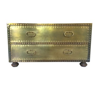 Sarreid Limited Two Drawer Brass Chest