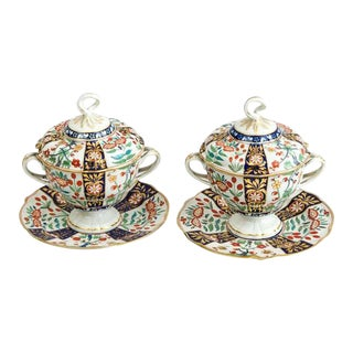 Flight & Barr Worcester Porcelain Sauce Tureens - a Pair