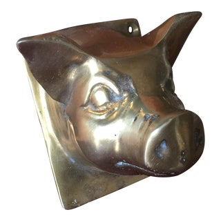 Brass Pig Coat Hanger