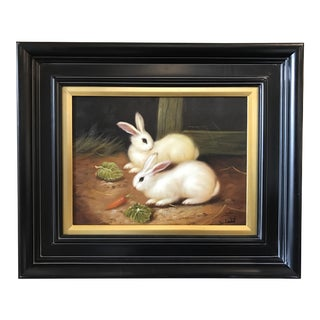 Two Rabbits Oil Painting