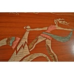 Image of Mid Century Wood Wall Art - Female Chariot