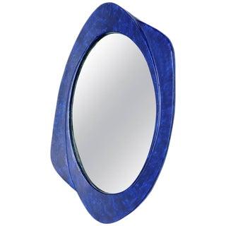 Italian Glazed Ceramic Wall Mirror, 1970s