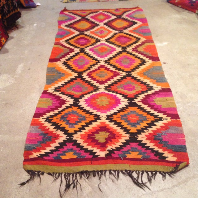 Vintage Turkish Kilim Runner - 4' X 9' - Image 2 of 7