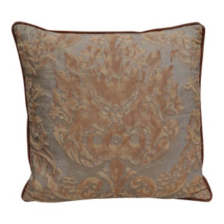 Golden Brown Fortuny Pillow