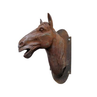 Rusted Iron Horse Head Sculpture
