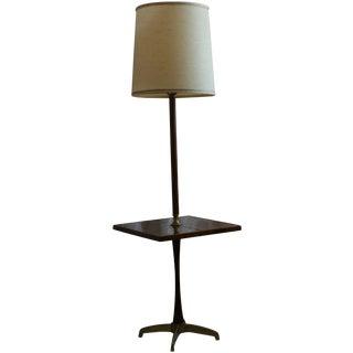 Mid-Century Briard Style Side Table Floor Lamp
