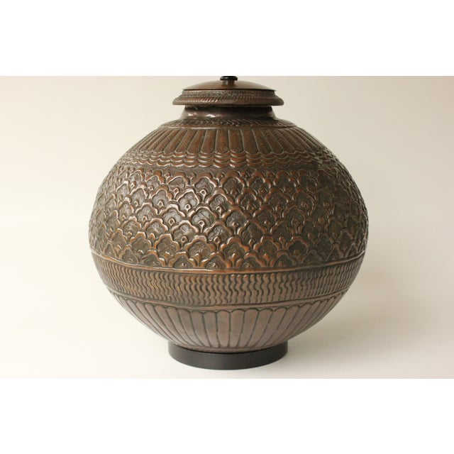 Tribal Repousse Table Lamp - Image 4 of 7