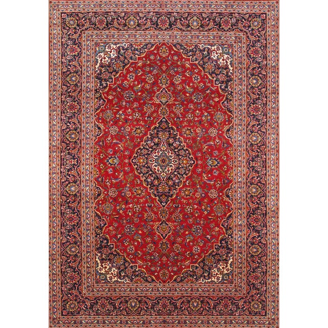 "Image of Pasargad Kashan Collection Rug - 7'10"" X 11'3"""