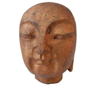 Gilt Stone Buddha Head
