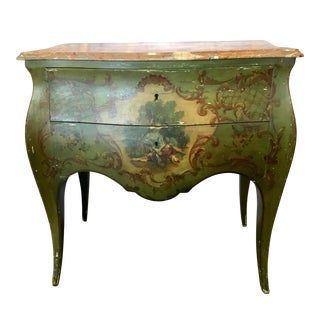 1920s Vintage Hand Painted Italian Bombay Chest