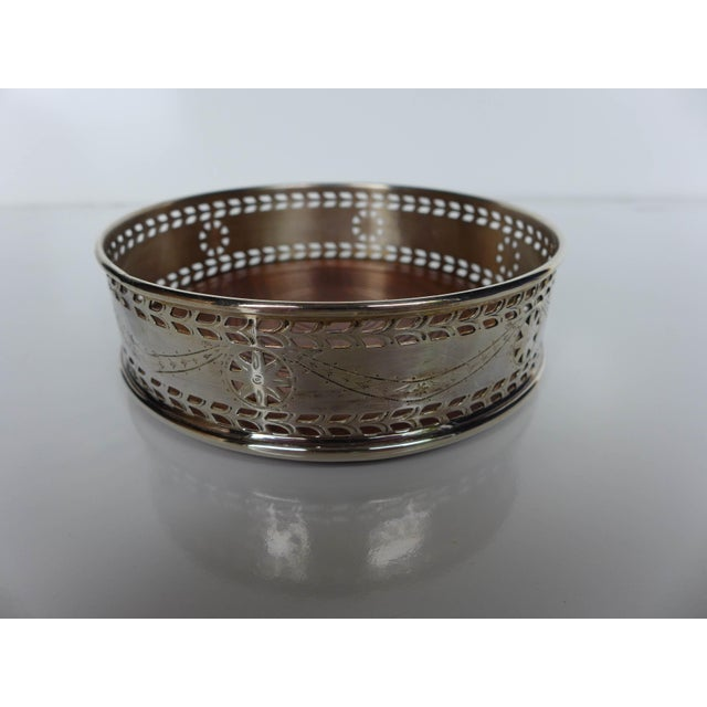 Pierced Silver Plated Wine Coaster - Image 2 of 6